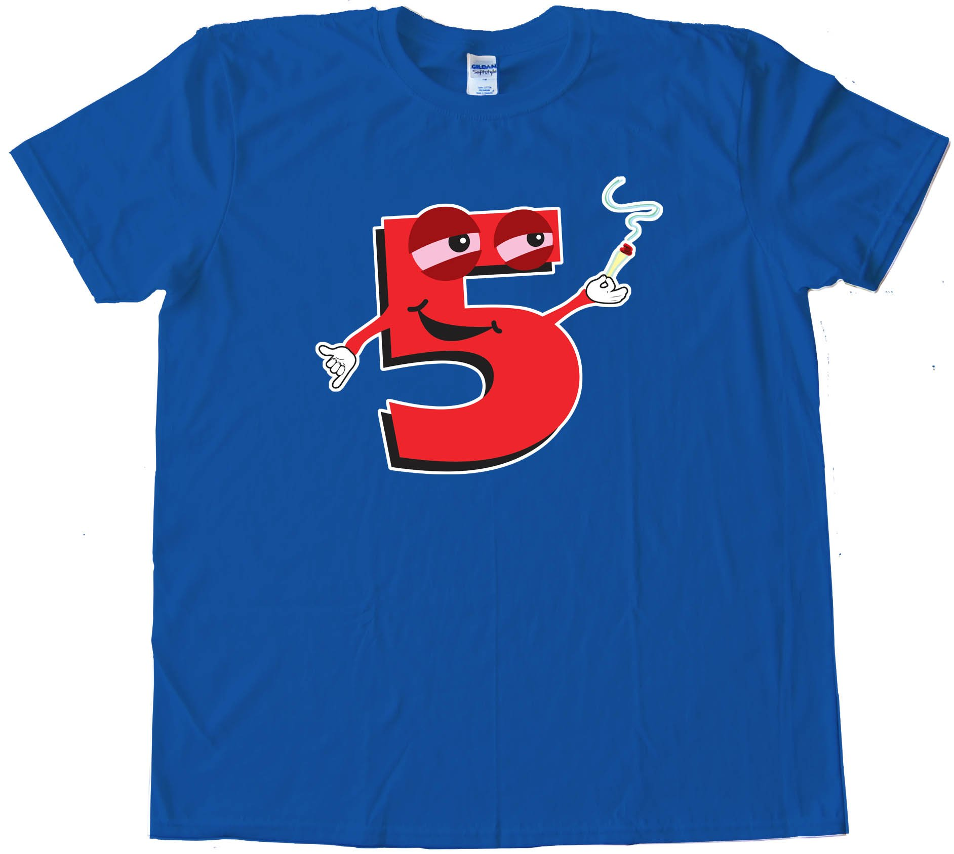High Five Smoking Number 5 - Tee Shirt