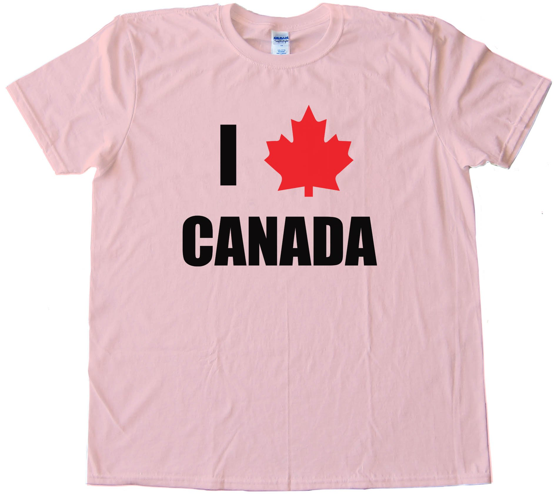 I Love Canada Maple Leaf - Tee Shirt