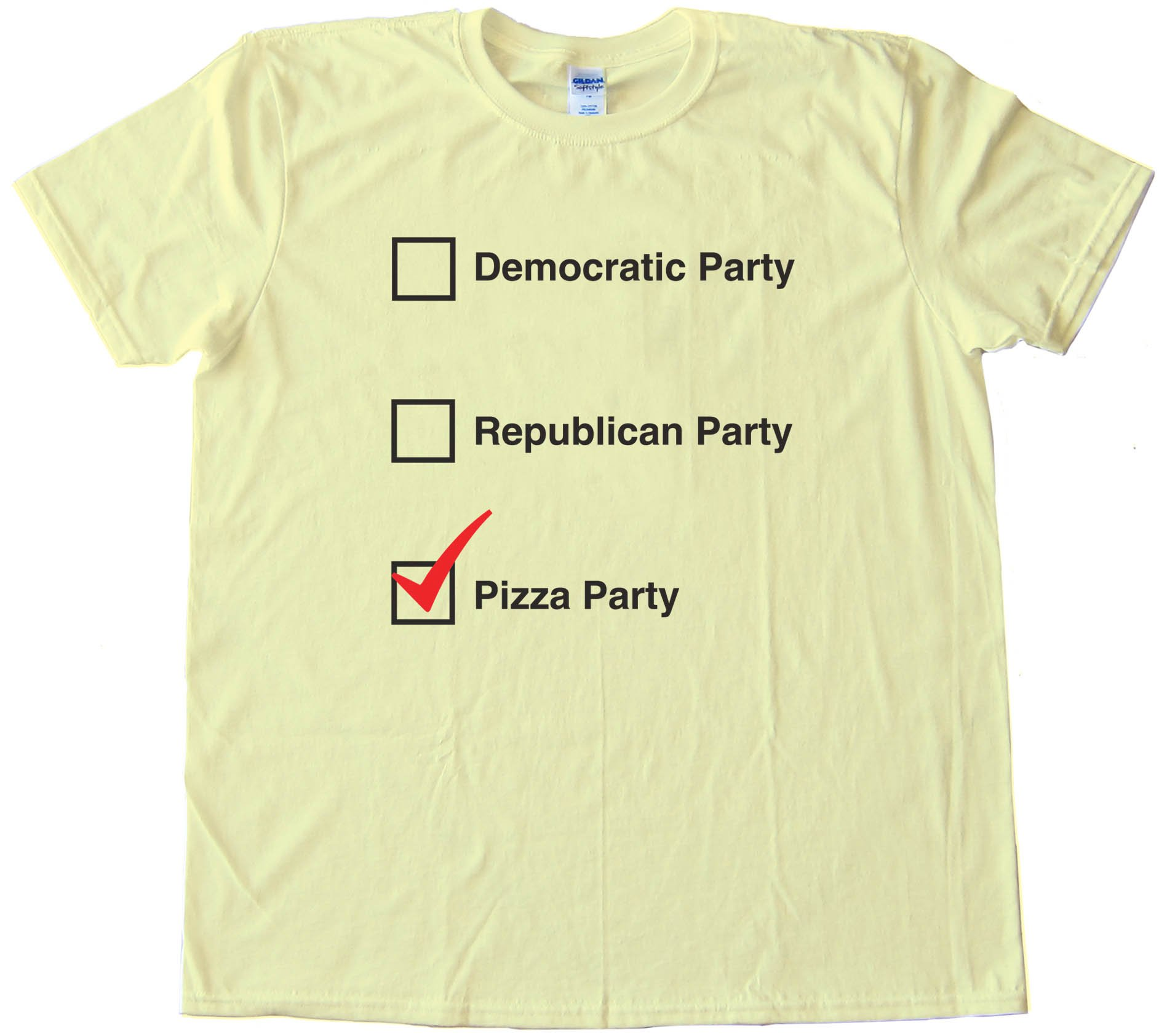 Pizza Party Democratic Republican Choices - Tee Shirt