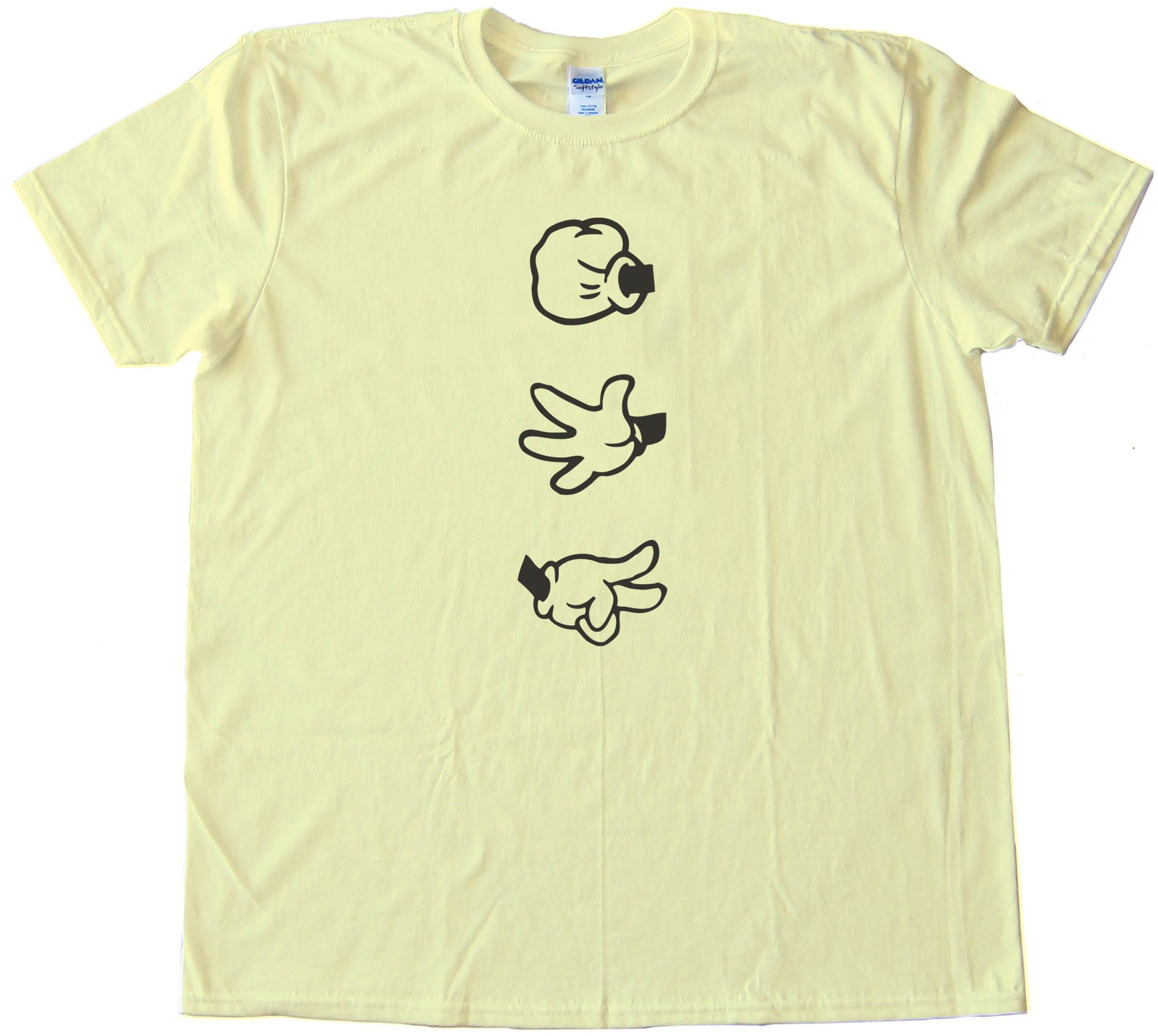 Rock Paper Scissors Mickey Mouse Hands - Tee Shirt