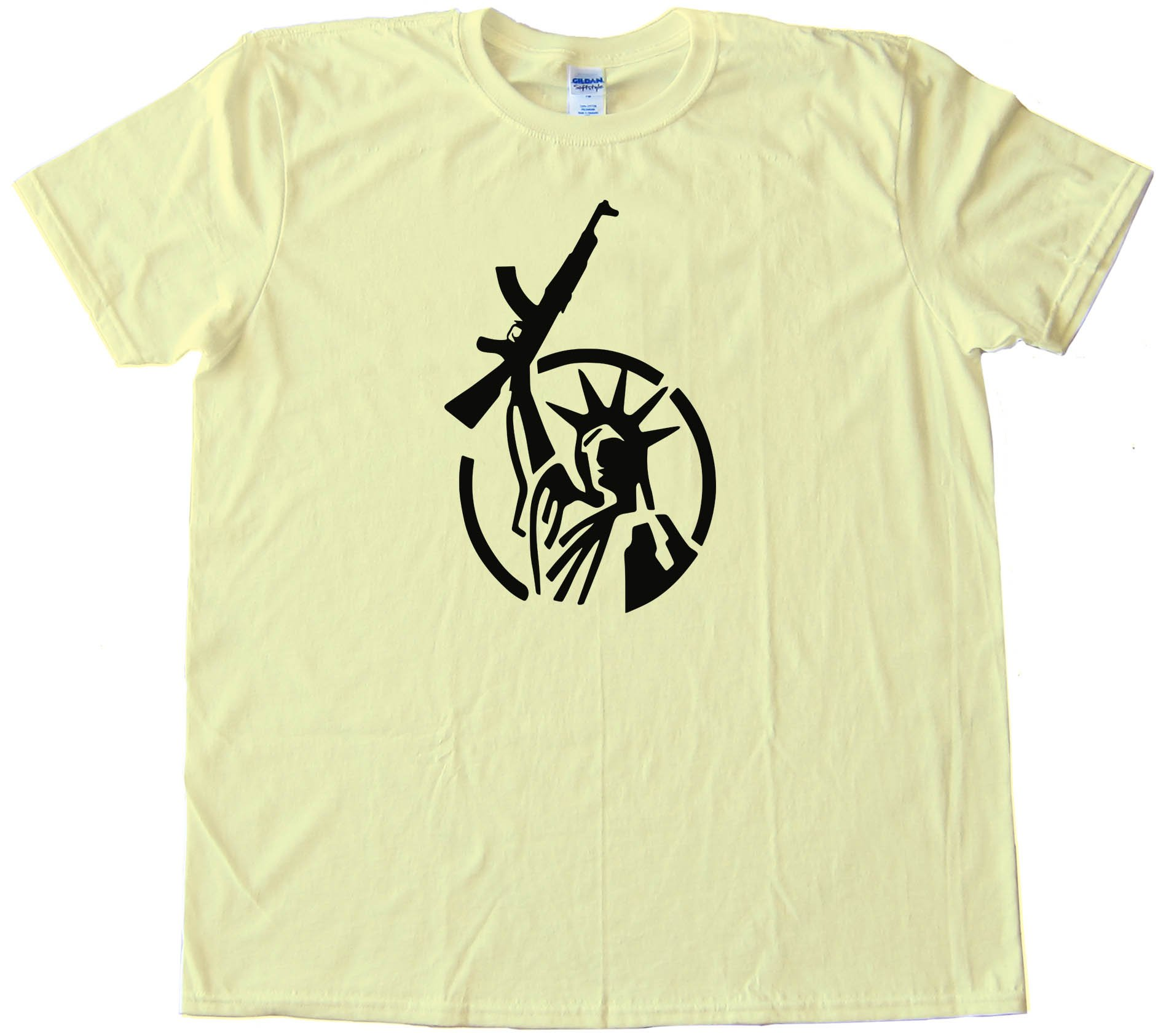 Statue Of Liberty With Ar-15 Rifle - Tee Shirt