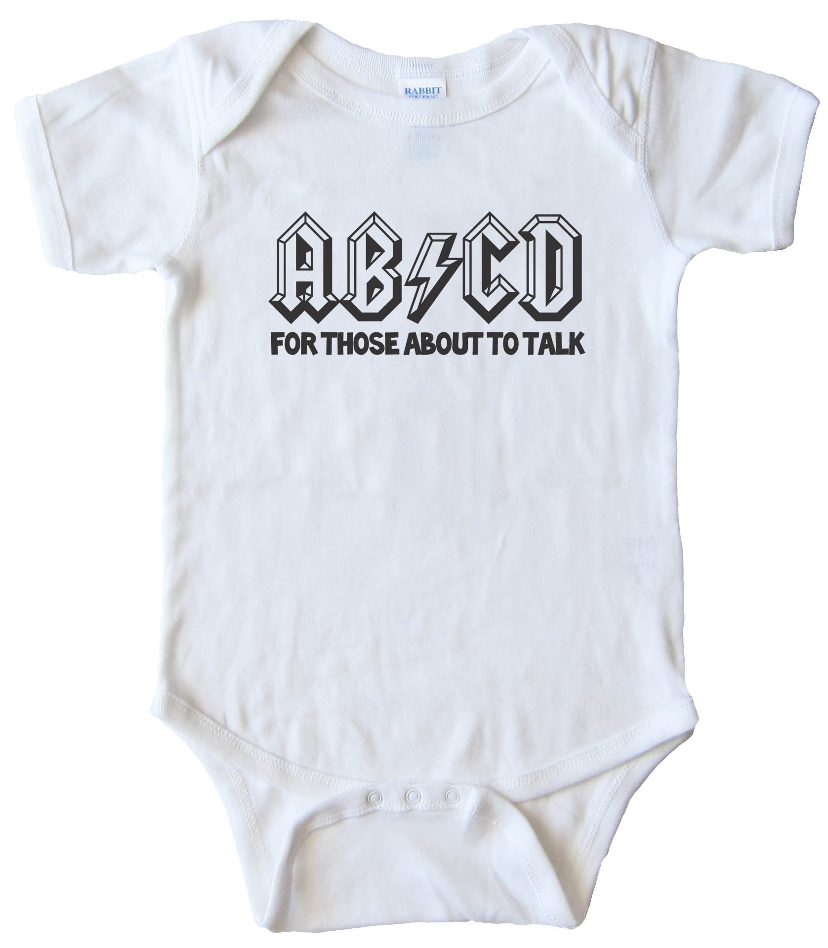 Baby Bodysuit - Abcd For Those About To Talk -
