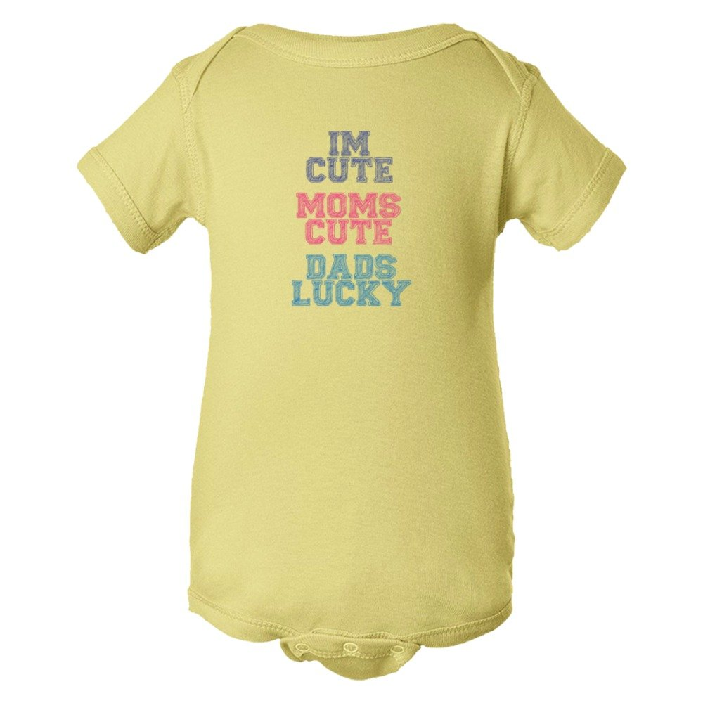 Baby Bodysuit I'M Cute Mom'S Cute Dad'S Lucky Color