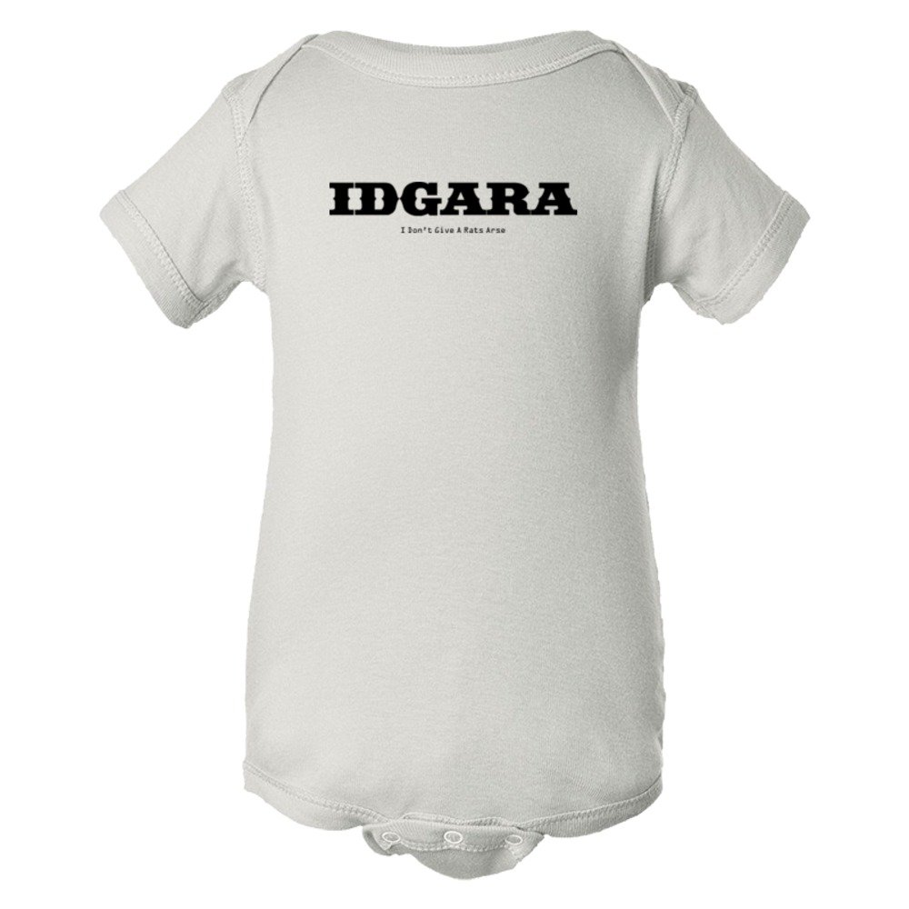 Baby Bodysuit Idgara I Don'T Give A Rats Arse Sms Styile Riot