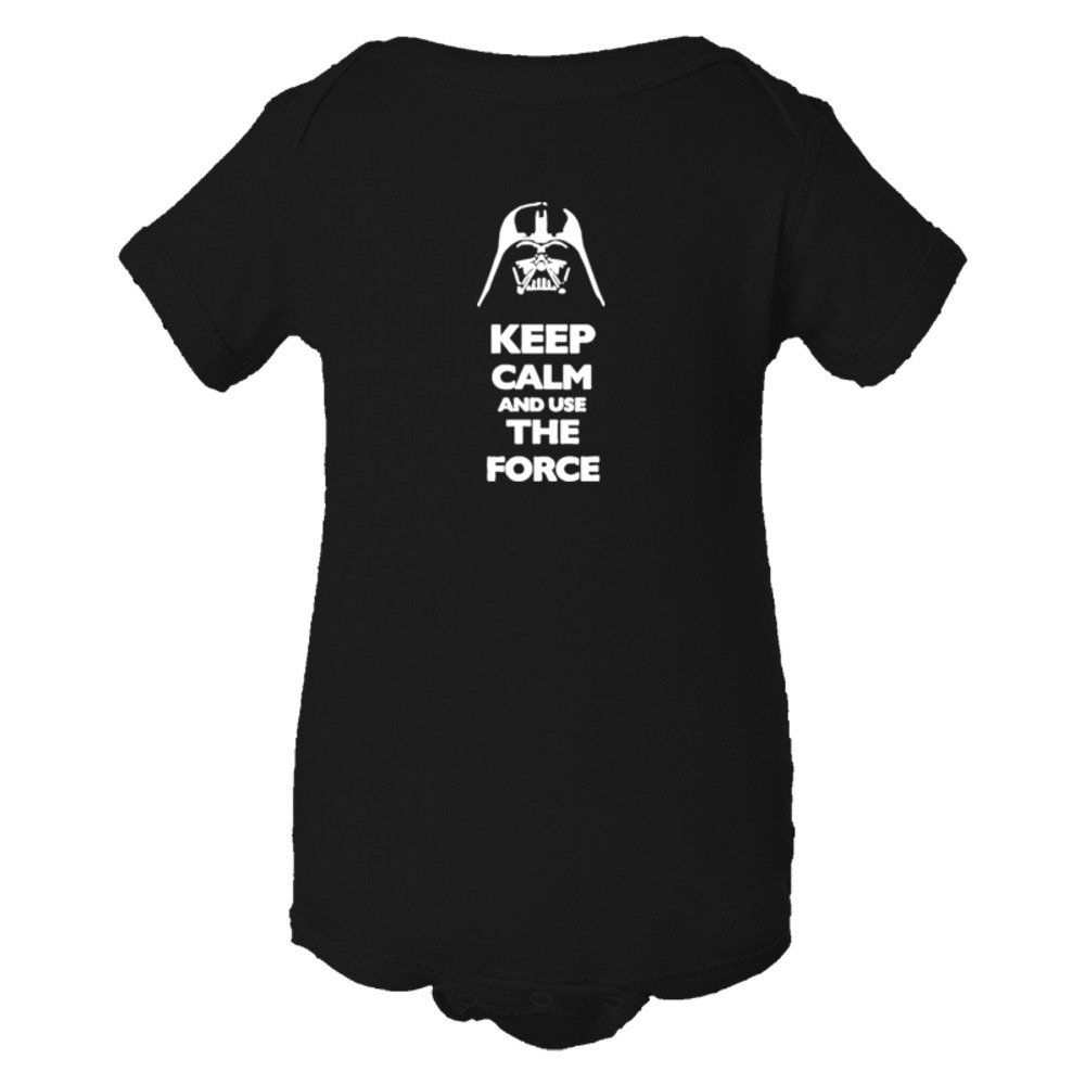 Baby Bodysuit Keep Calm And Use The Force Darth Vader