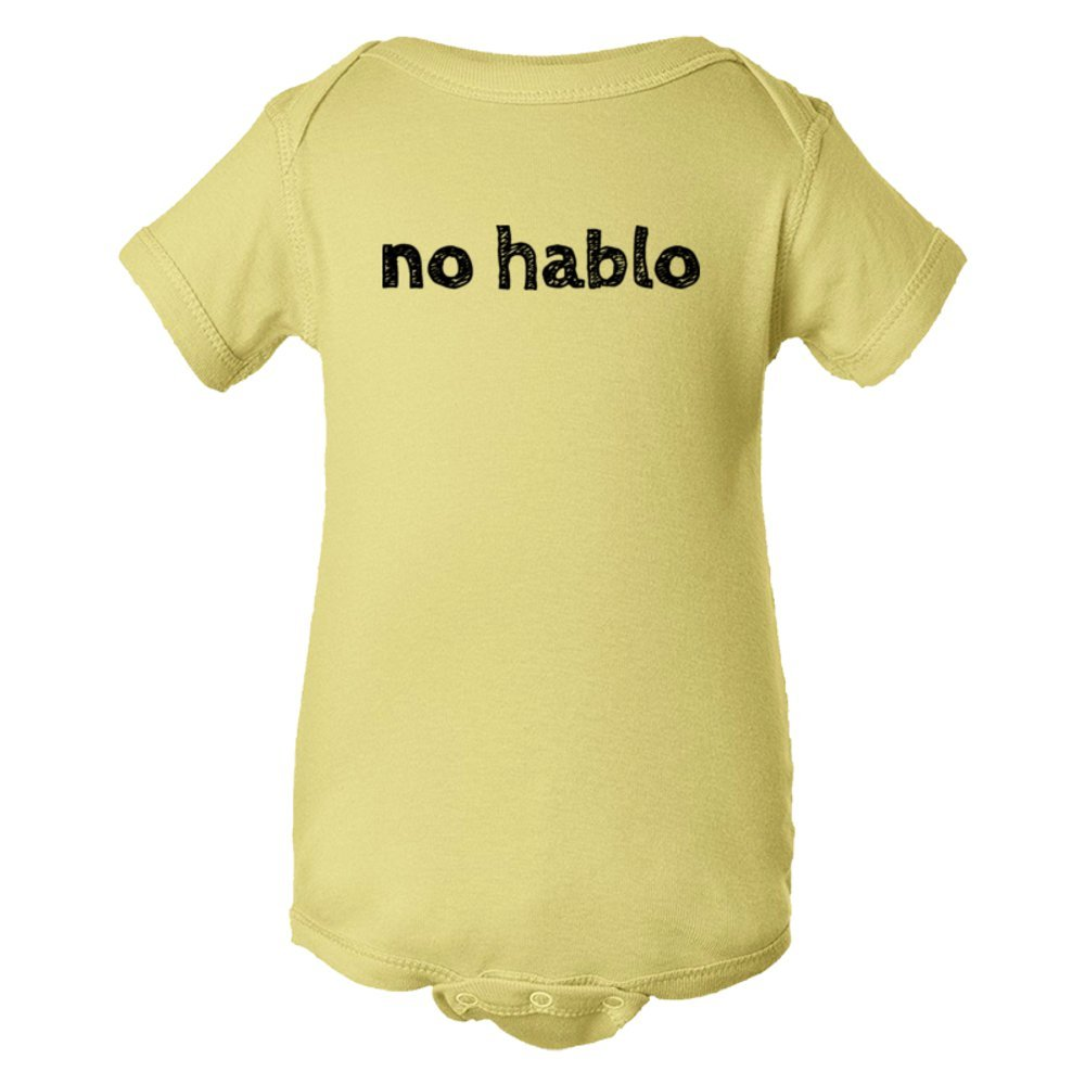 Baby Bodysuit No Hablo I Don'T Speak Spanish