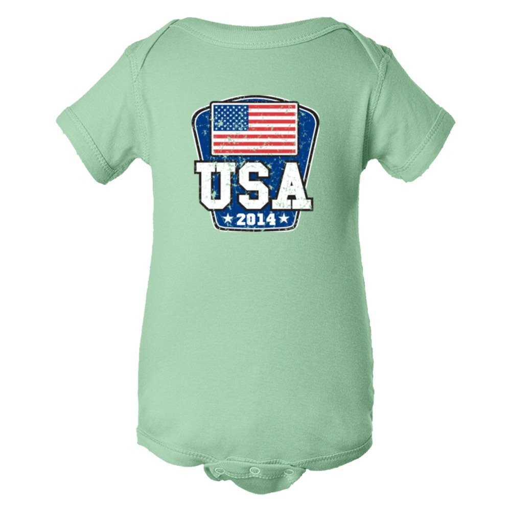 Baby Bodysuit World Cup 2014 Usa United States Of America Soccer Team Support