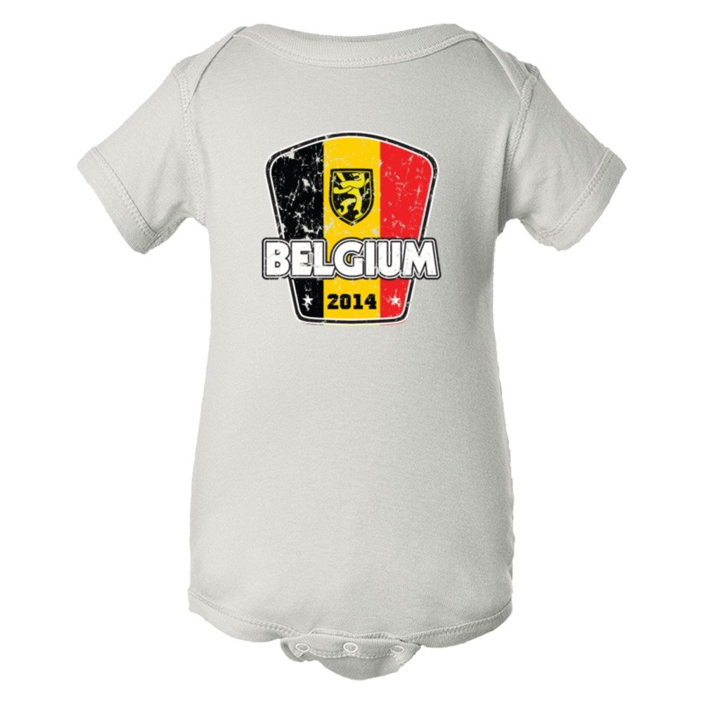 Baby Bodysuit World Cup Belgium 2014 Football Soccer Team Support