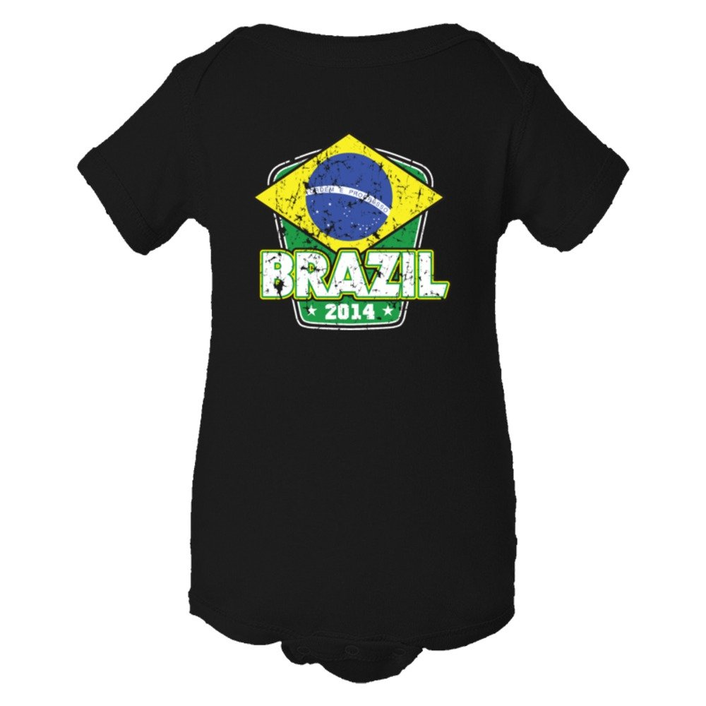 Baby Bodysuit World Cup Brazil 2014 Football Soccer Team Support