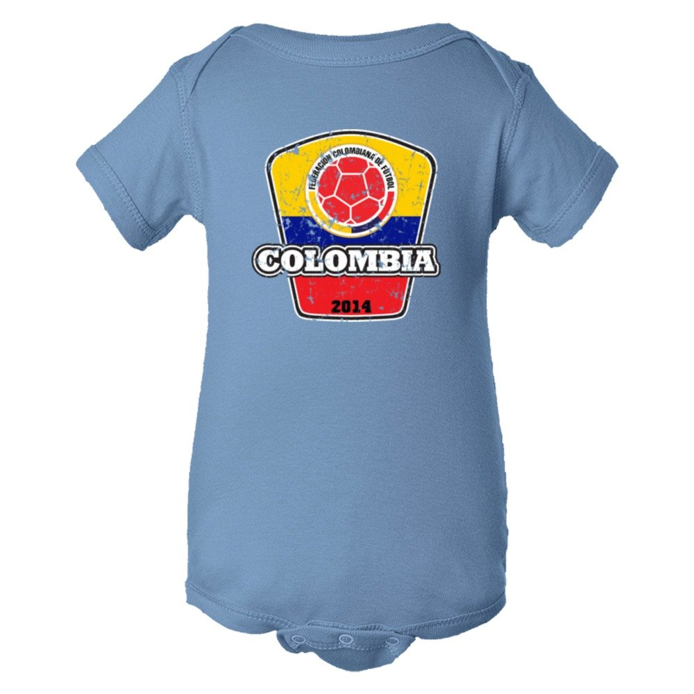Baby Bodysuit World Cup Colombia 2014 Football Soccer Team Support