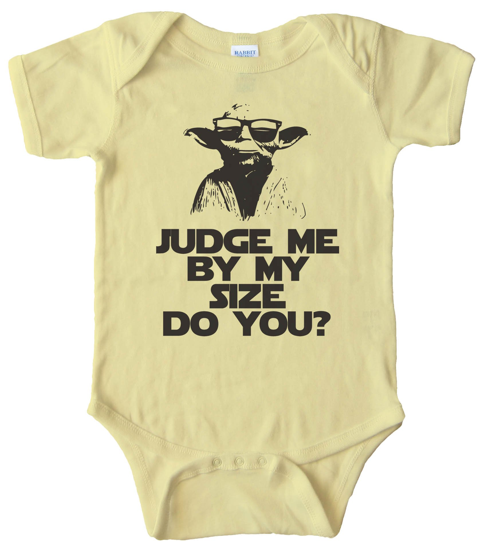 Baby Bodysuit - Yoda Judge Me By My Size Do You?