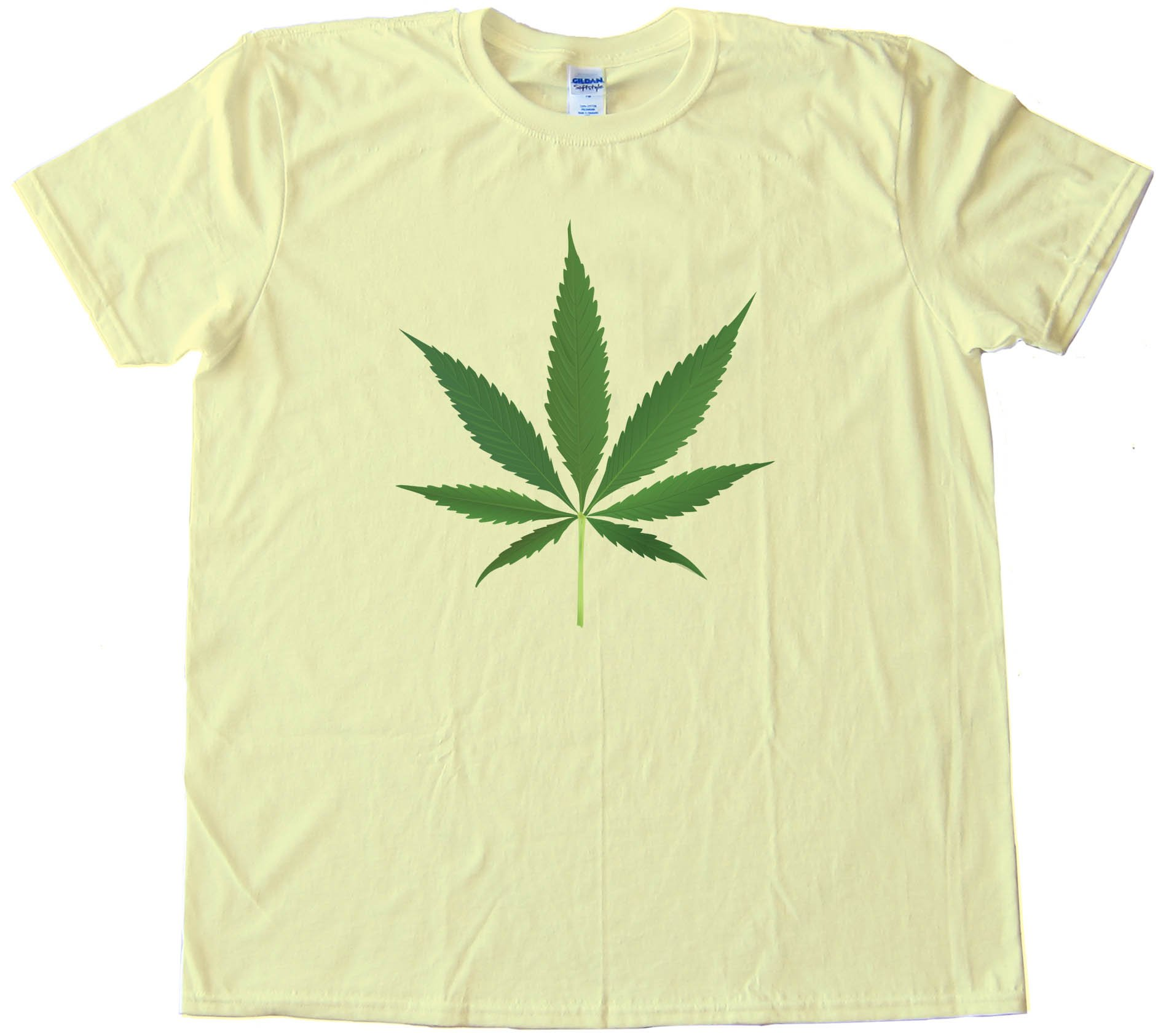 Big Marijuana Leaf Pot Weed Tee Shirt