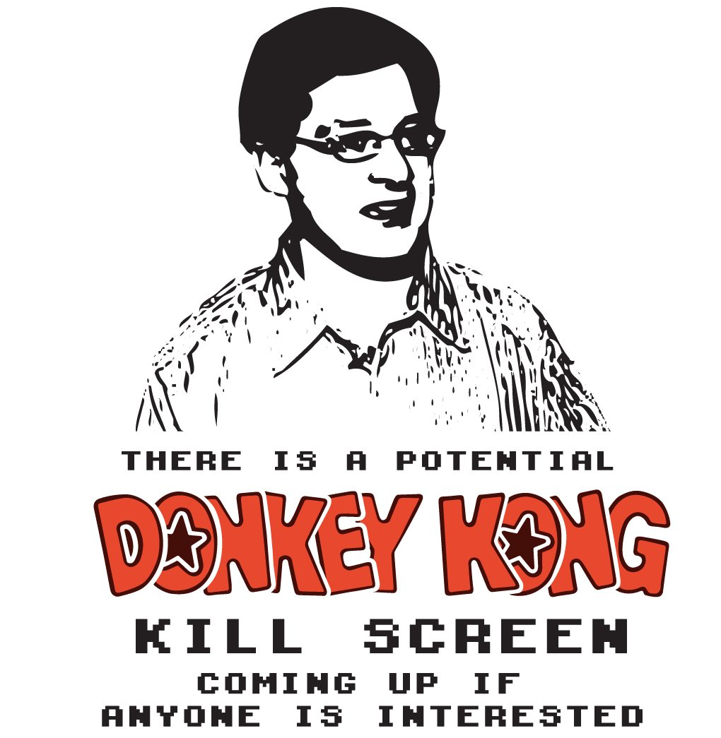 Brian Kuh Donkey Kong Kill Screen Tee Shirt