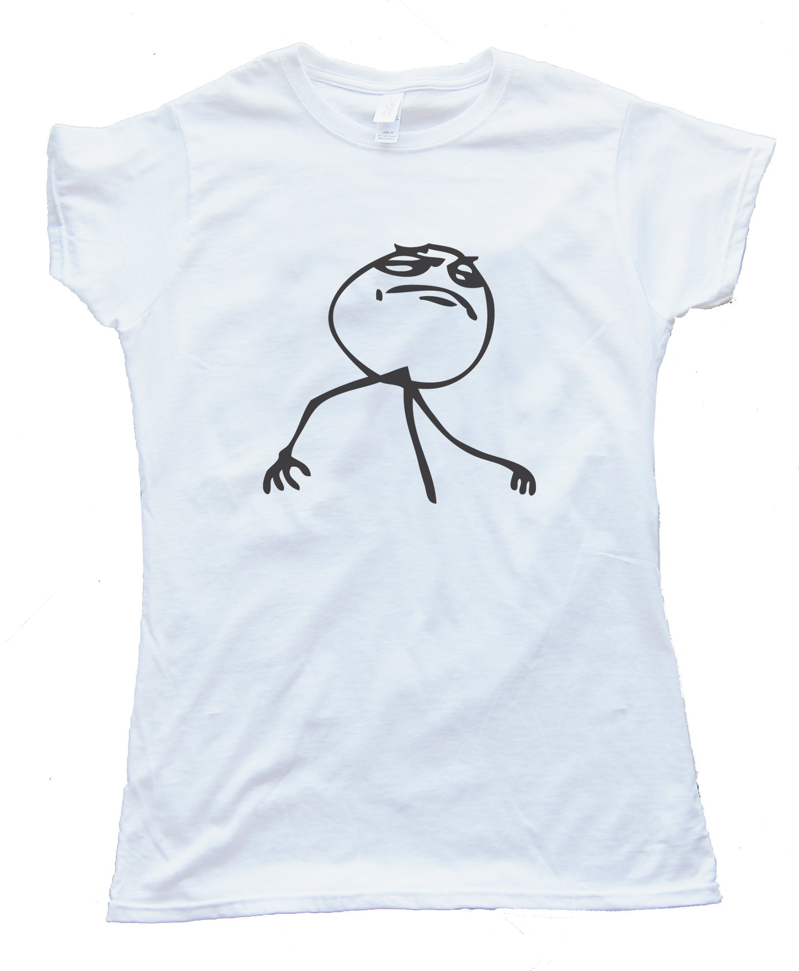 Female F$%&Amp; Yeah Rage Comic Face Tee Shirt