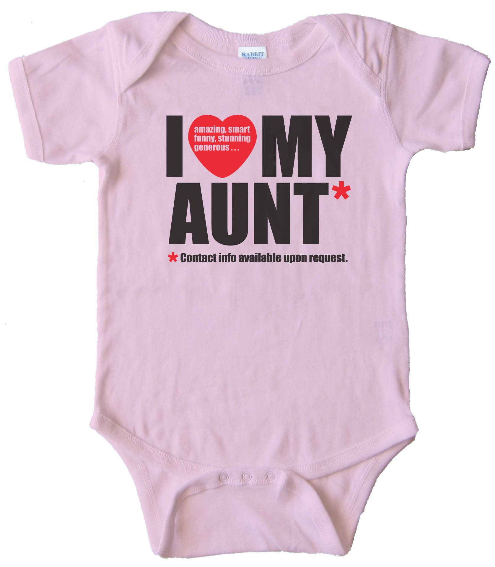 I Love My Aunt - Contact Info Available Upon Request - Baby Bodysuit