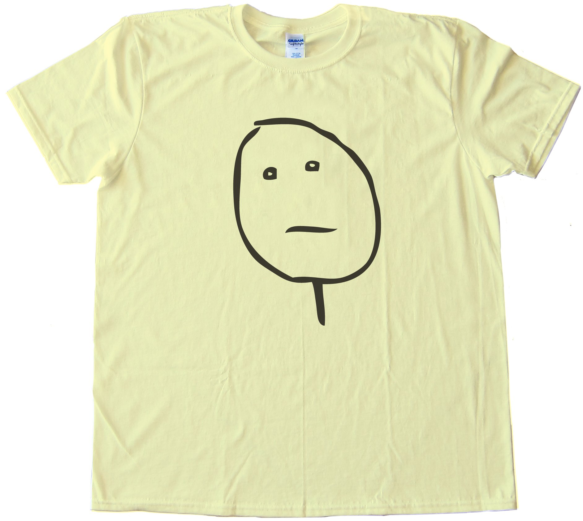 Poker Face Rage Comic Face Tee Shirt