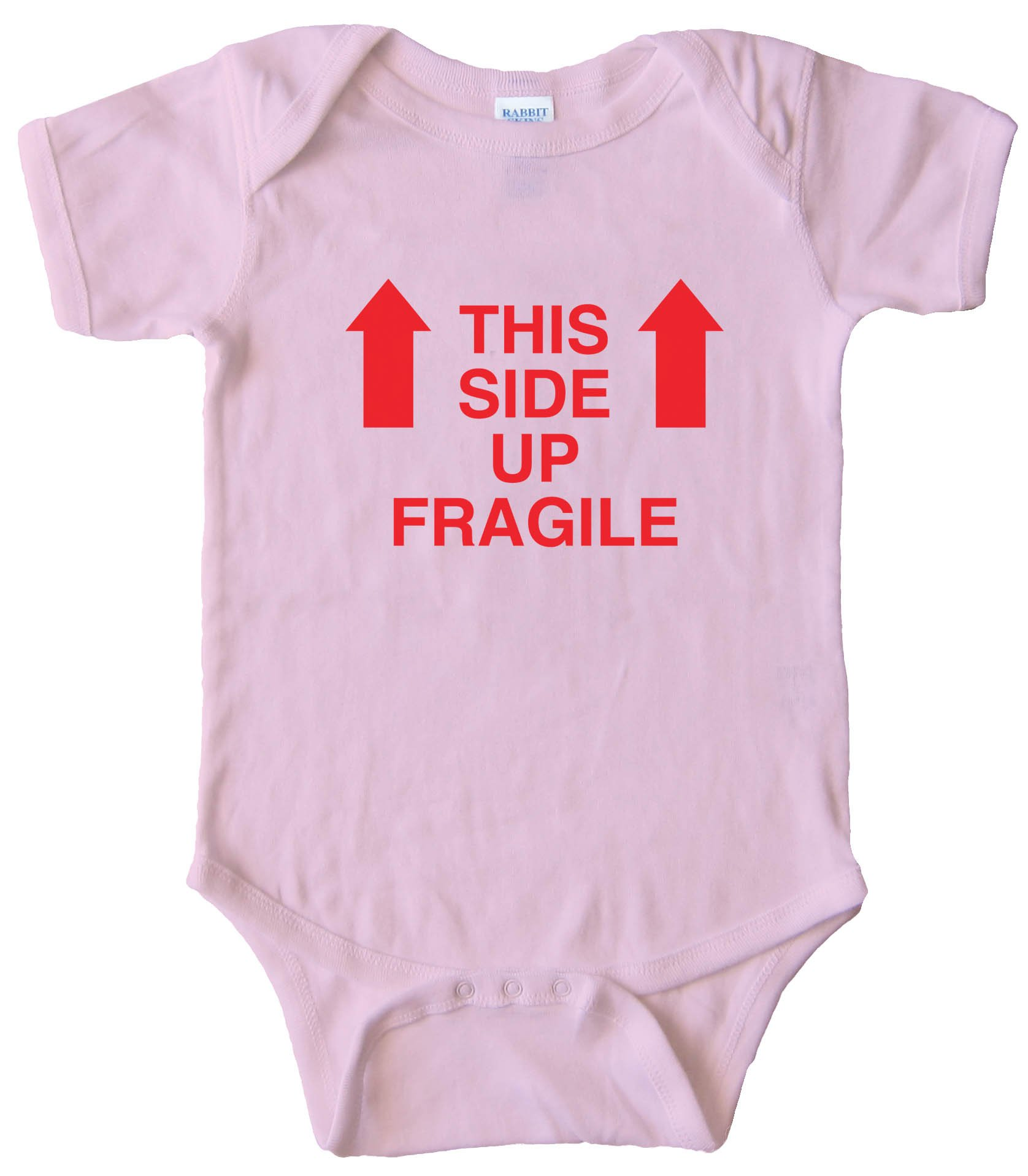 This Side Up - Fragile - Baby Bodysuit