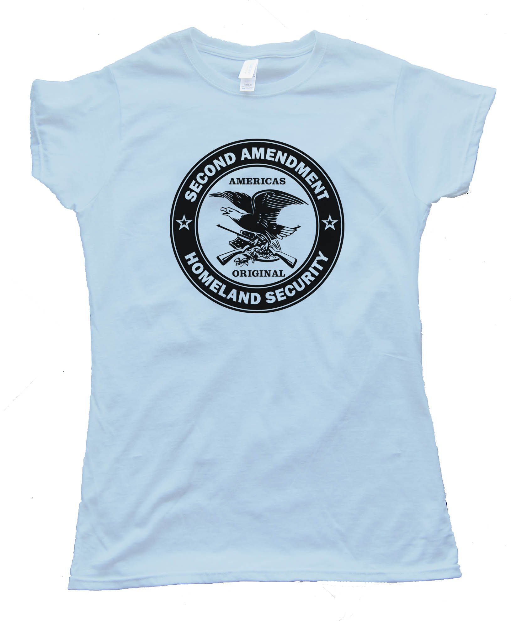 Womens Americas Original Homeland Security The Second Amendment Tee Shirt