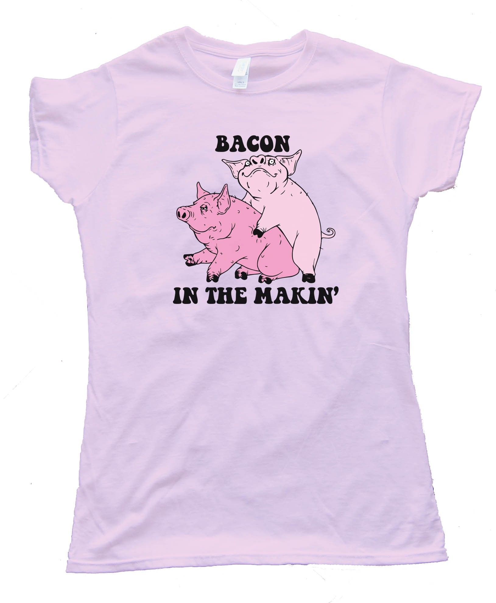 Womens Bacon In The Makin' Pigs - Tee Shirt