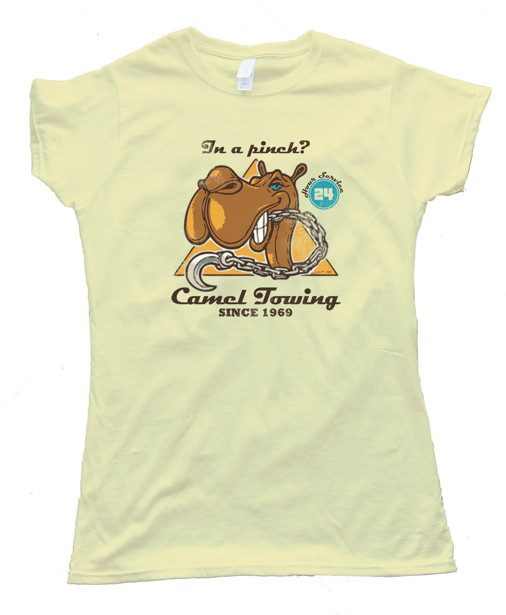 Womens Camel Towing Since 1969 - Camel Toe - Tee Shirt