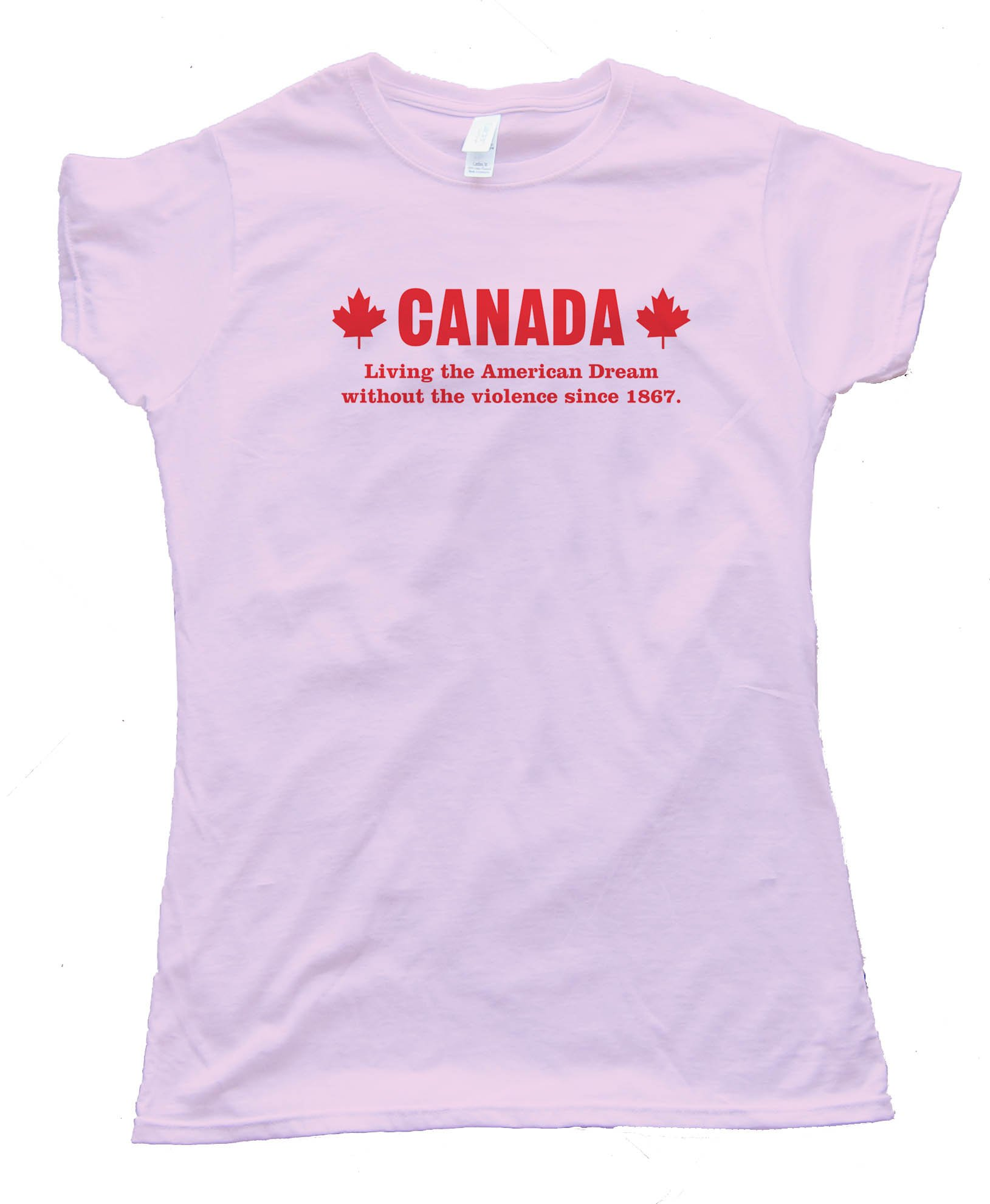 Womens Canada Living The American Dream - Tee Shirt