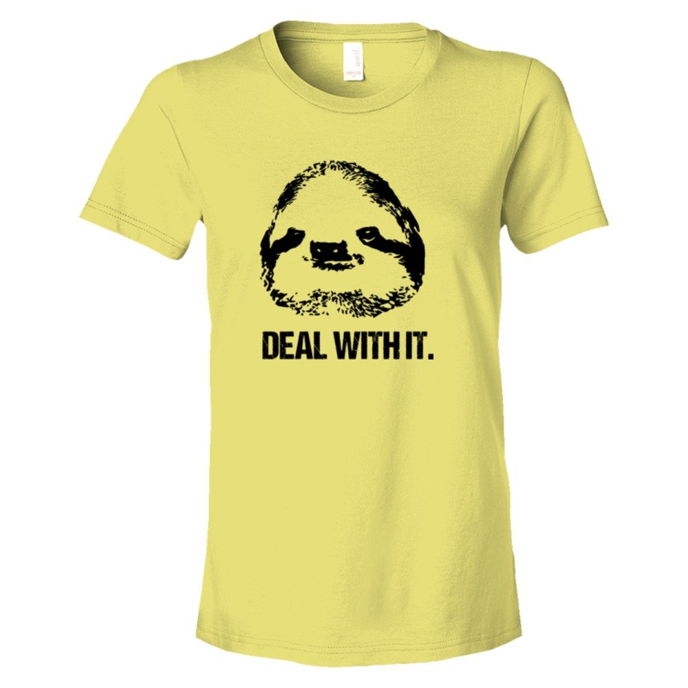 Womens Deal With It Sloth - Tee Shirt