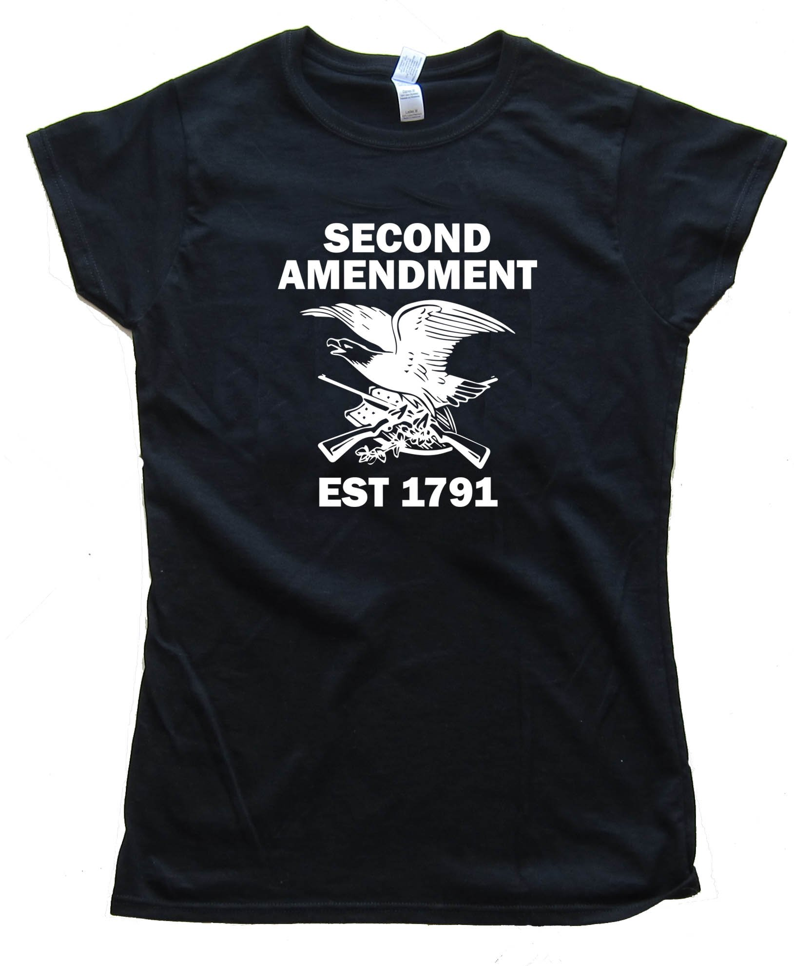 Womens 1791 Second Amendment Eagle With Guns - Tee Shirt