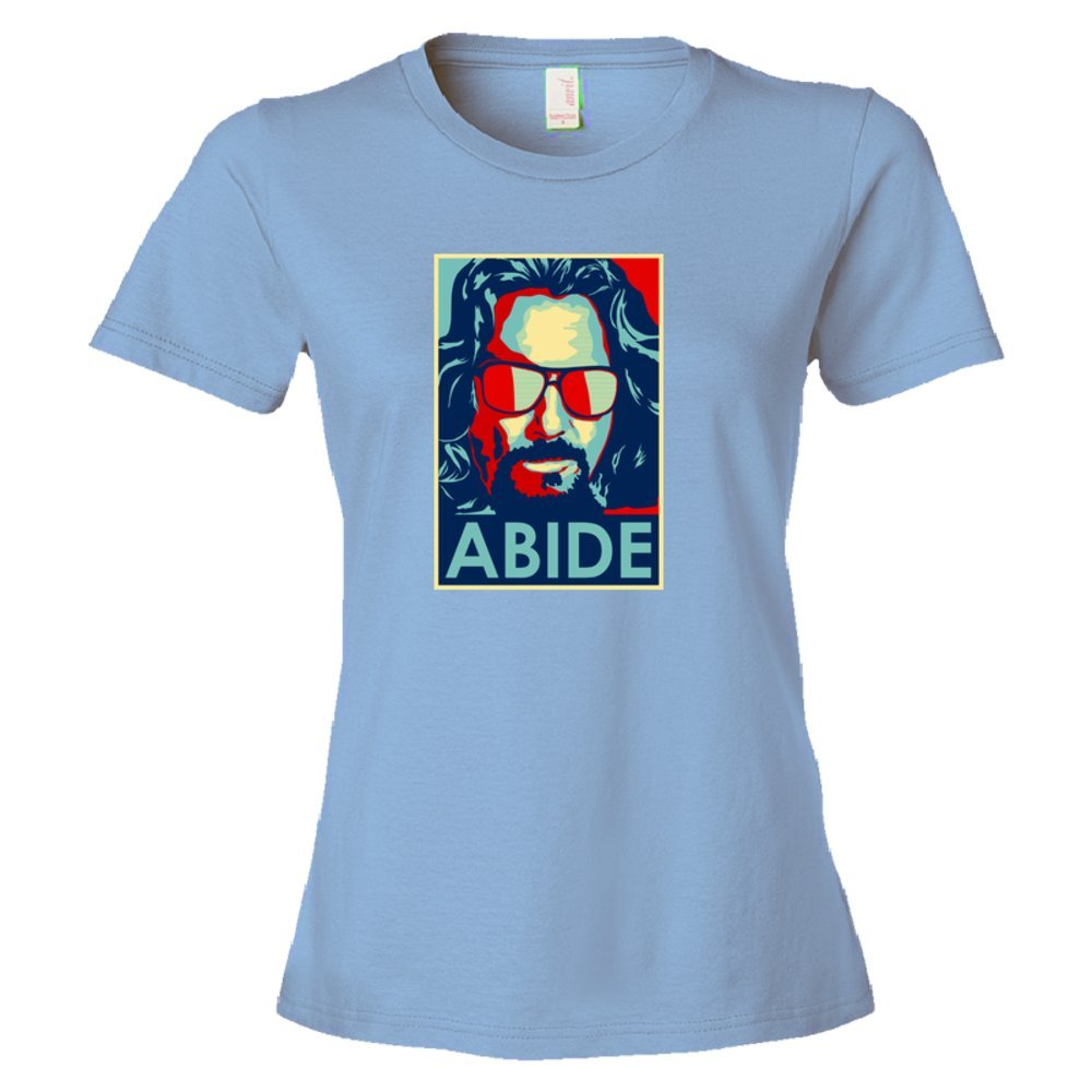 Womens Abide The Dude From The Big Lebowski Obama Style Poster - Tee Shirt