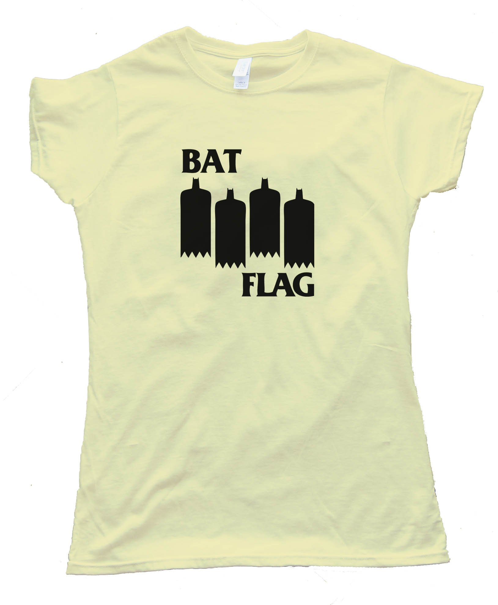 Womens Bat Flag - Black Flag Meme - Tee Shirt
