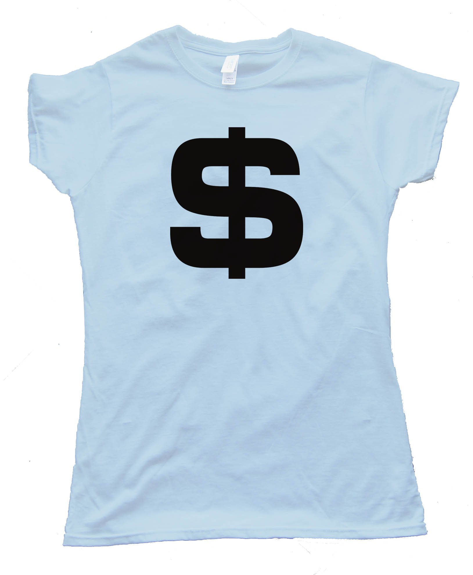 Womens Big Us Dollar Sign Tee Shirt