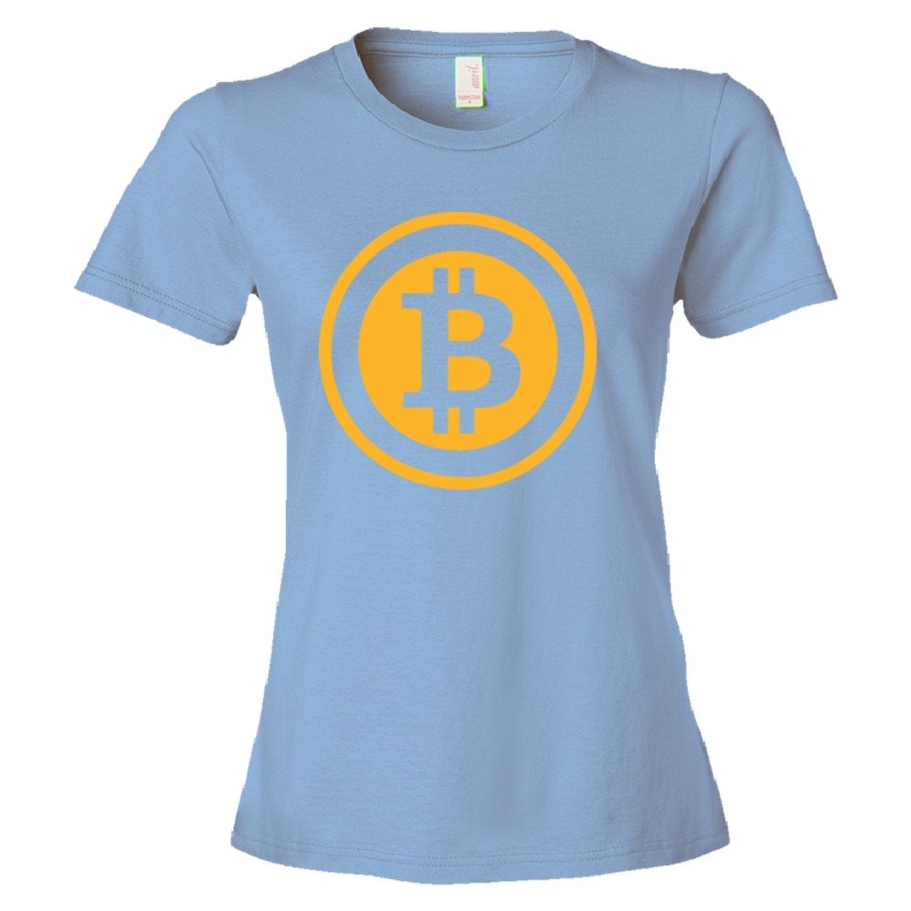 Womens Bitcoin Coin Image Online Currency - Tee Shirt