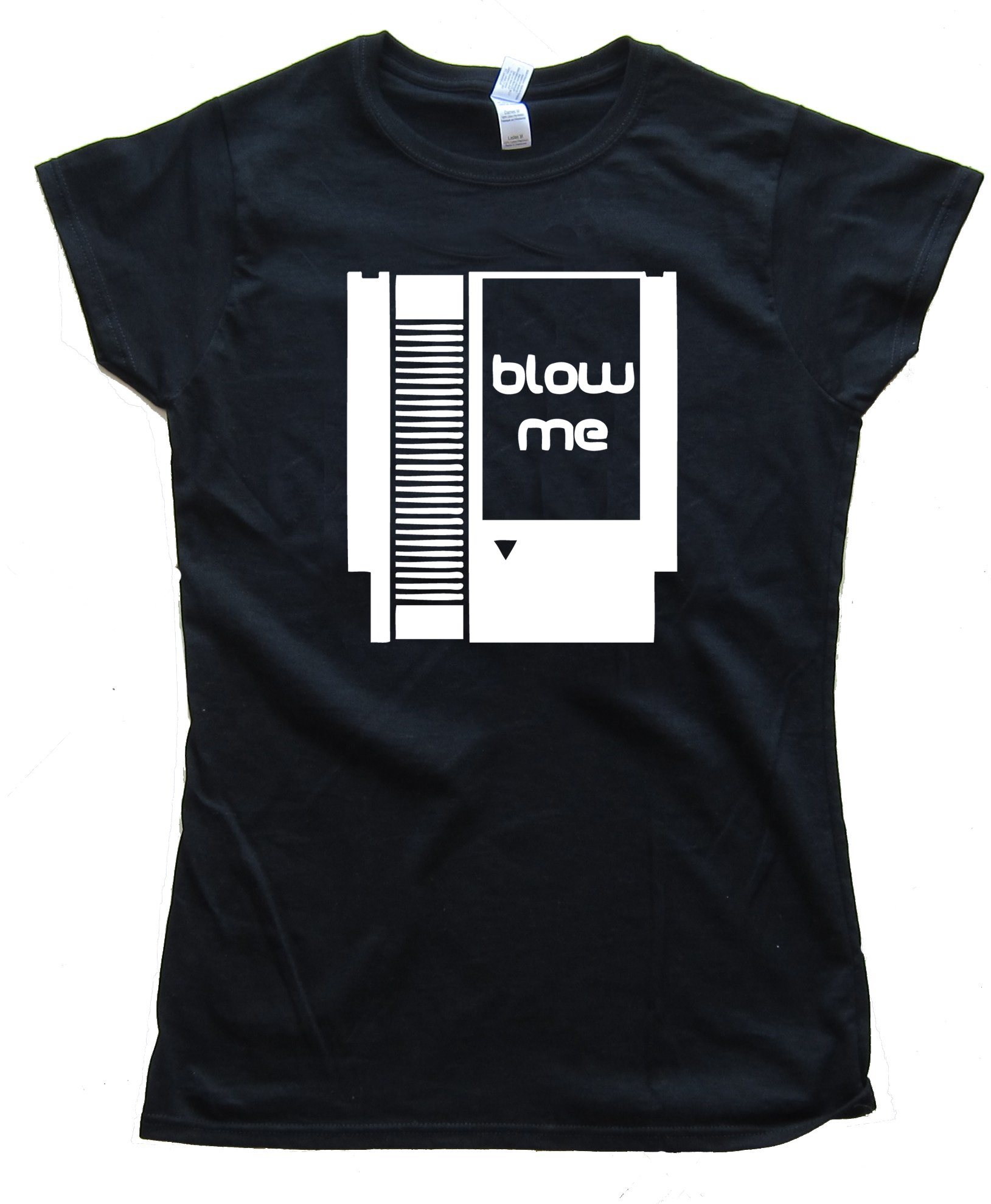 Womens Blow Me - Nintendo Cartridge Tee Shirt
