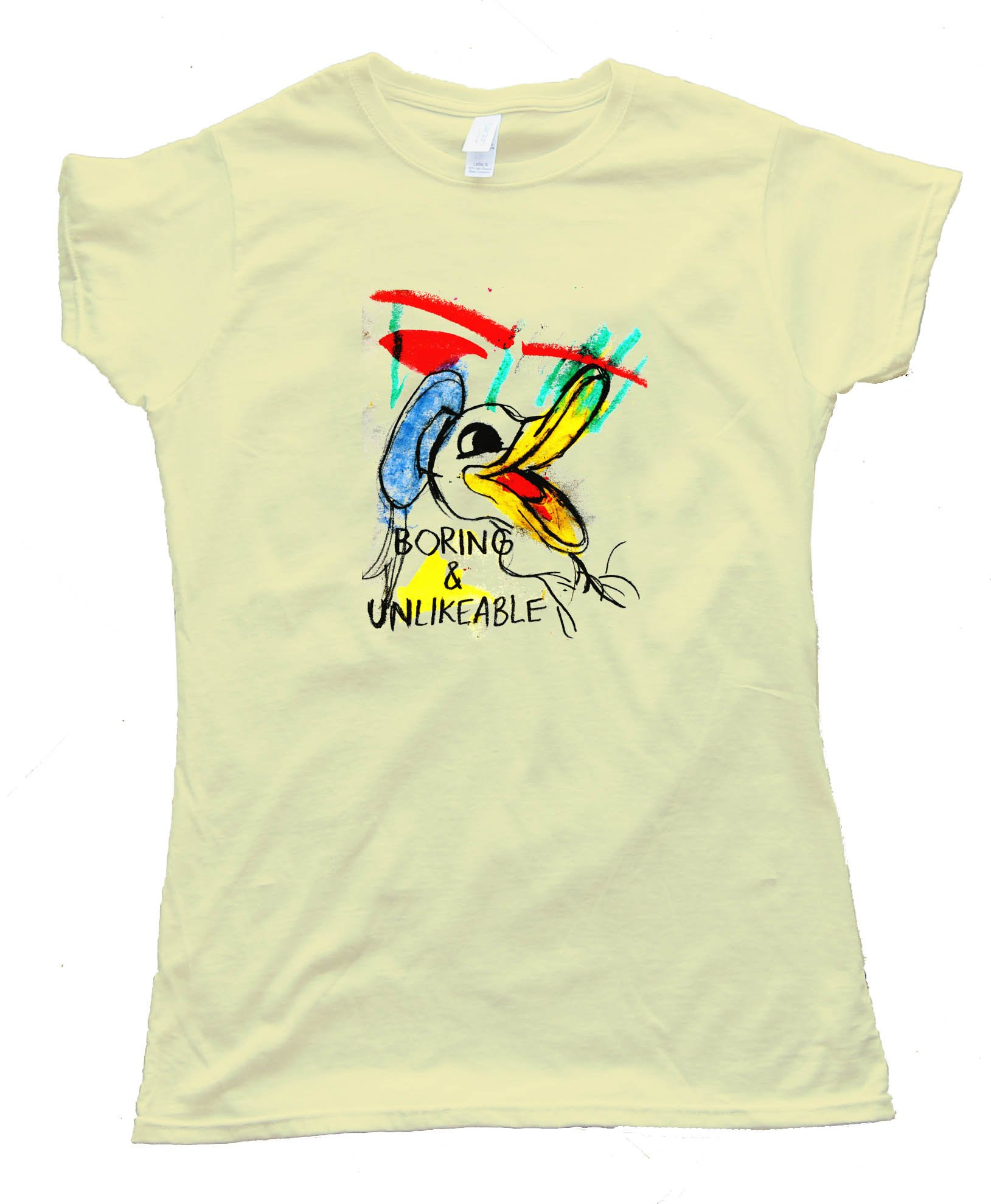 Womens Boring And Unlikable Daffy Duckalike - Tee Shirt