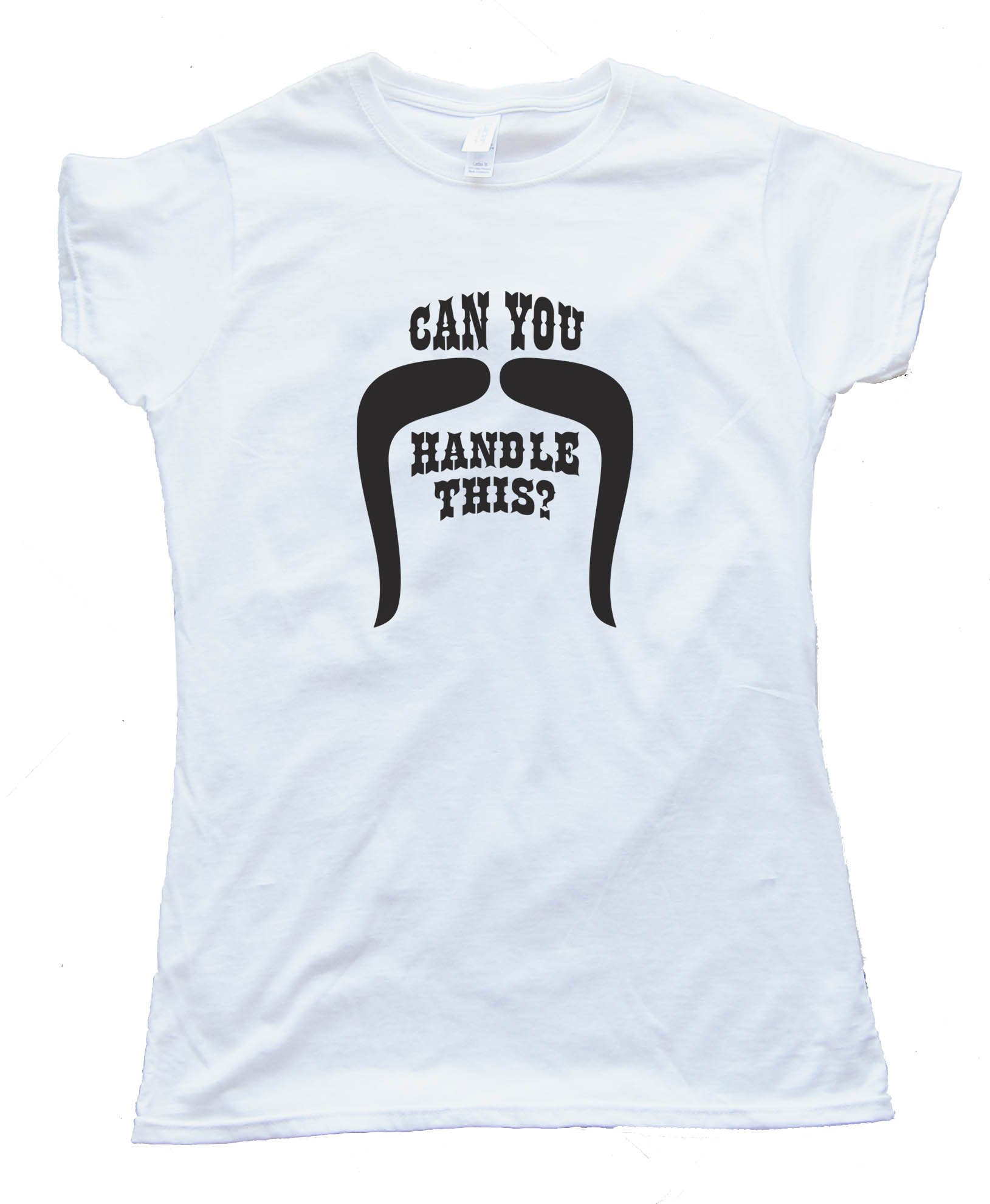 Womens Can You Handle This Handlebar Mustache Movember - Tee Shirt