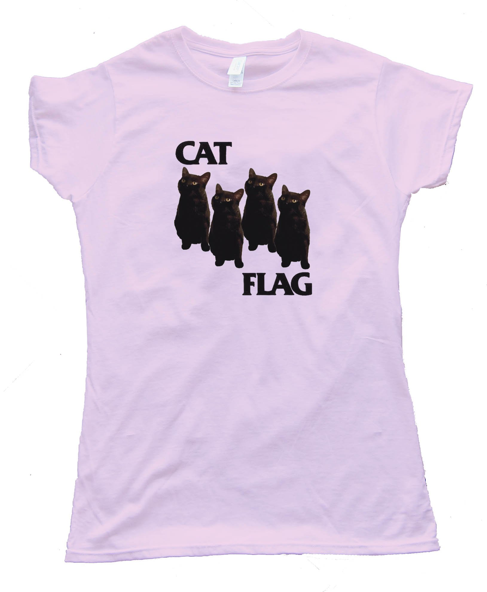 Womens Cat Flag - Black Flag Meme - Tee Shirt