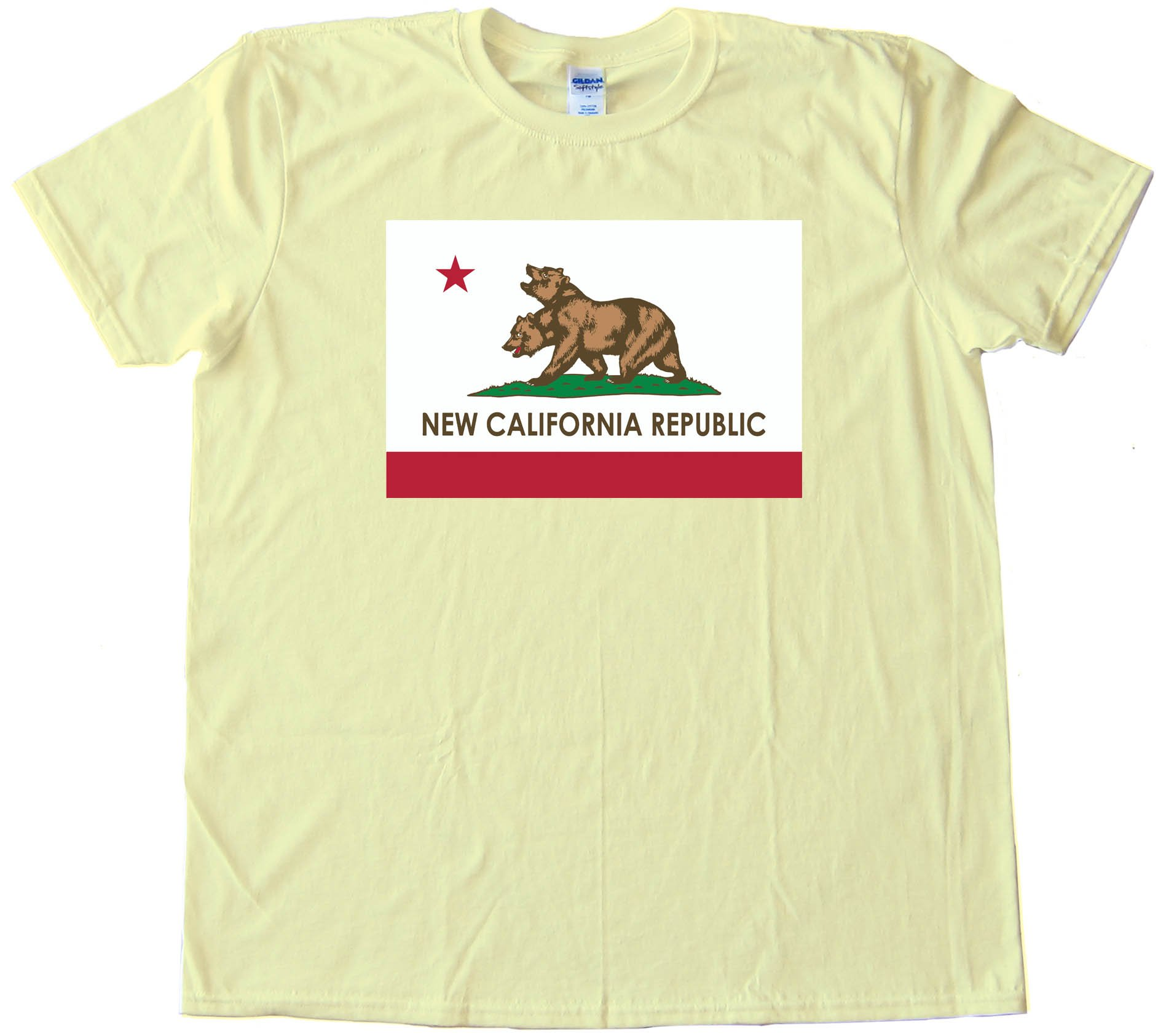 California Republic California State Flag Bear - Tee Shirt