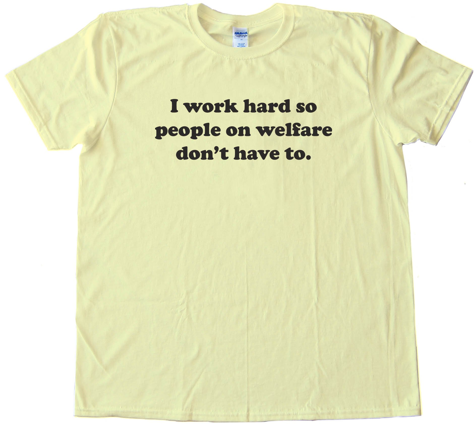 I Work Hard So People On Welfare Don'T Have To -Tee Shirt
