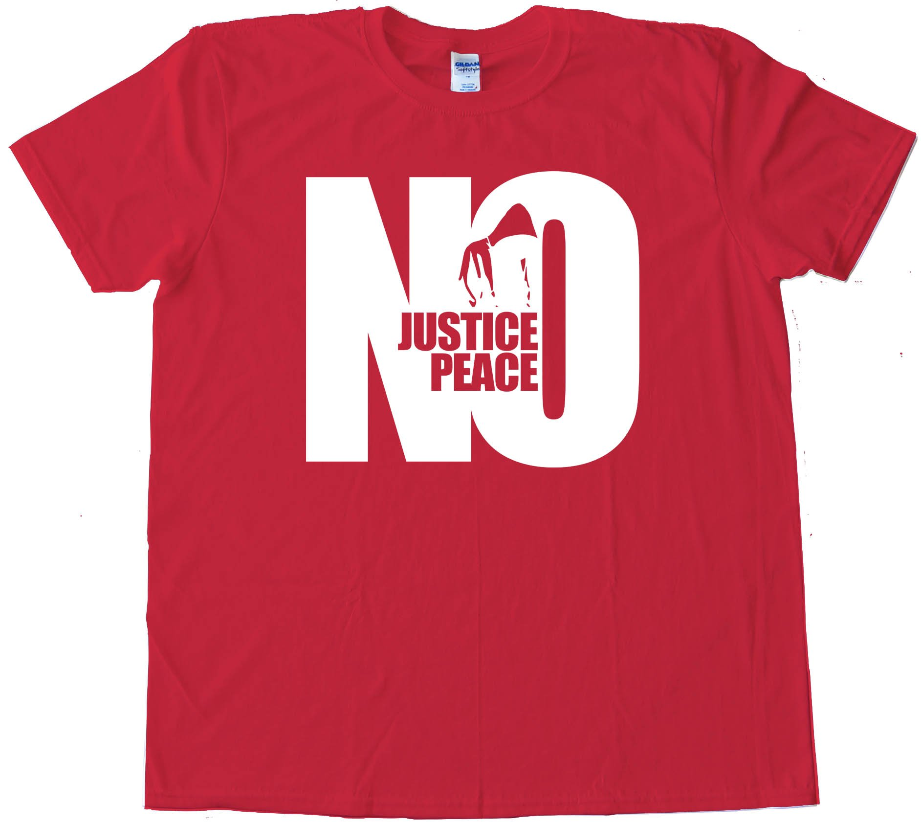 Large No Justice No Peace Hoodie - Tee Shirt