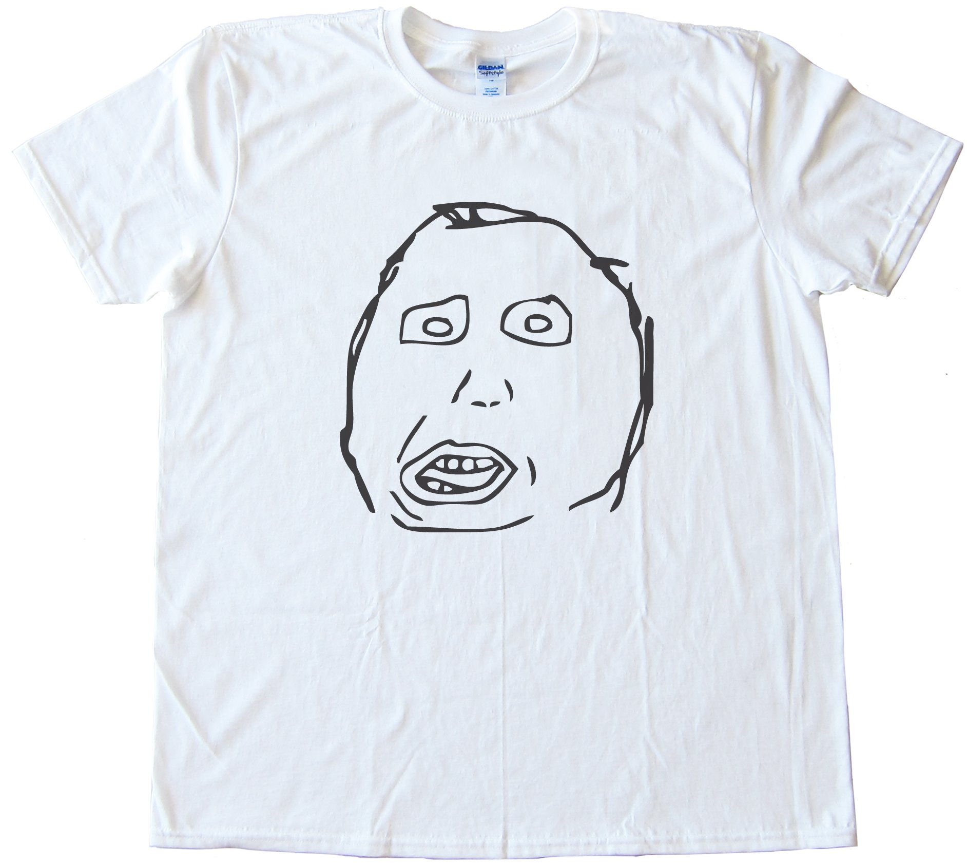 Moron Rage Comic Face Tee Shirt