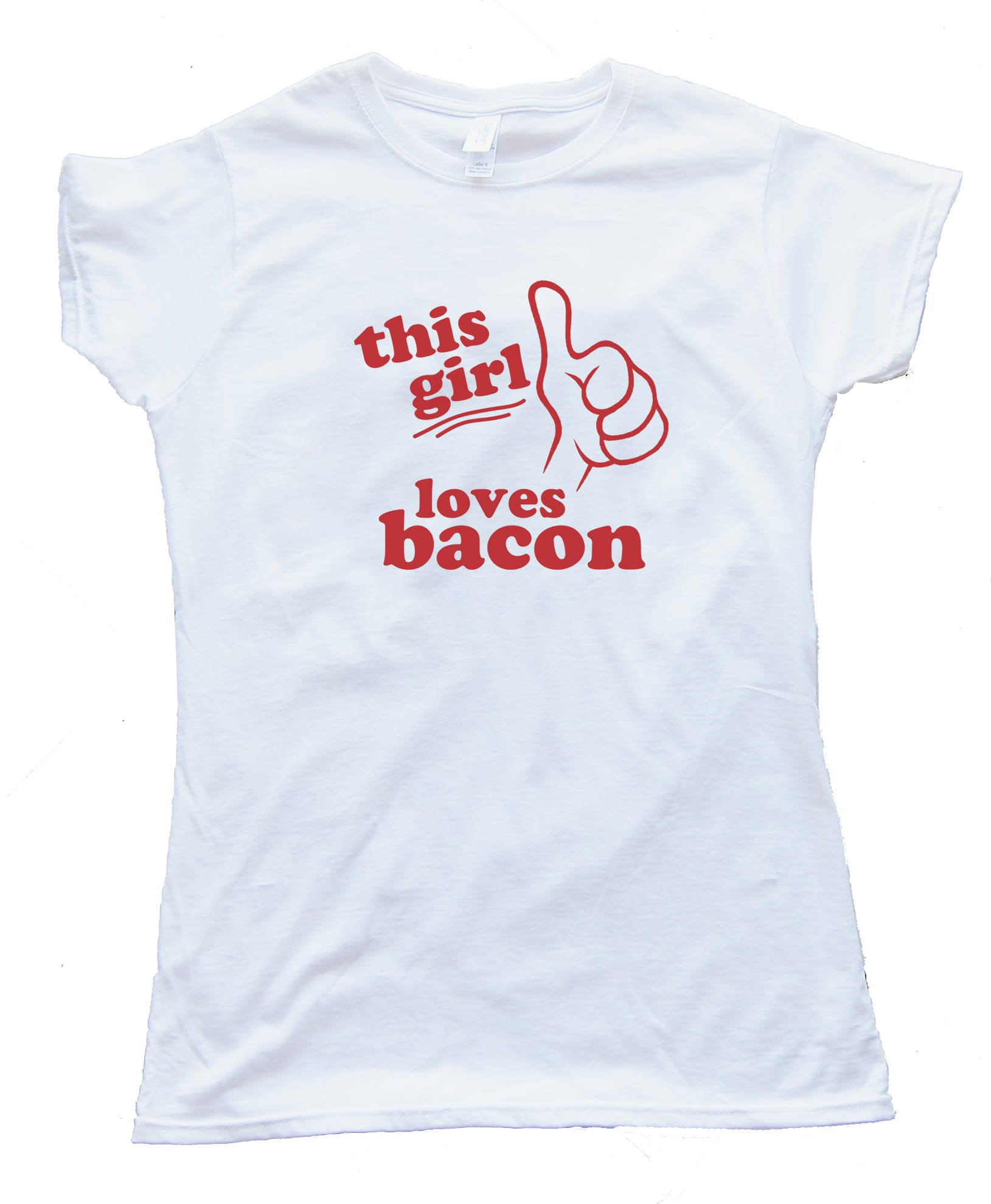 Womens Bacon & Bacon & Bacon & Bacon. Tee Shirt