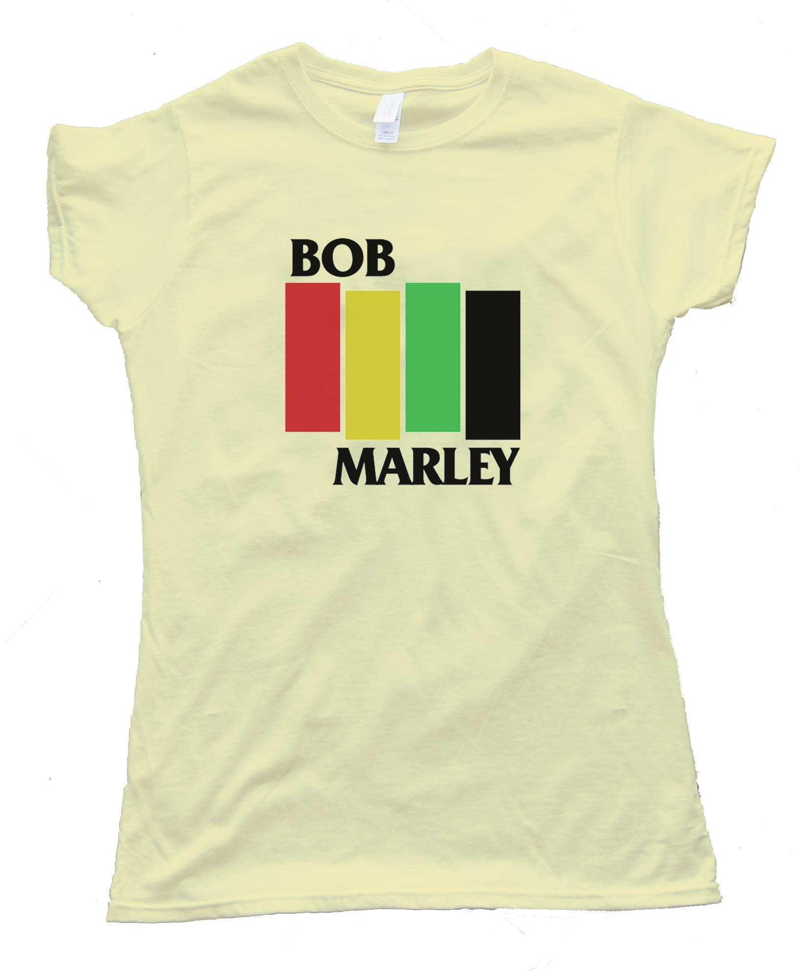 Womens Bob Marley - Black Flag Meme - Tee Shirt