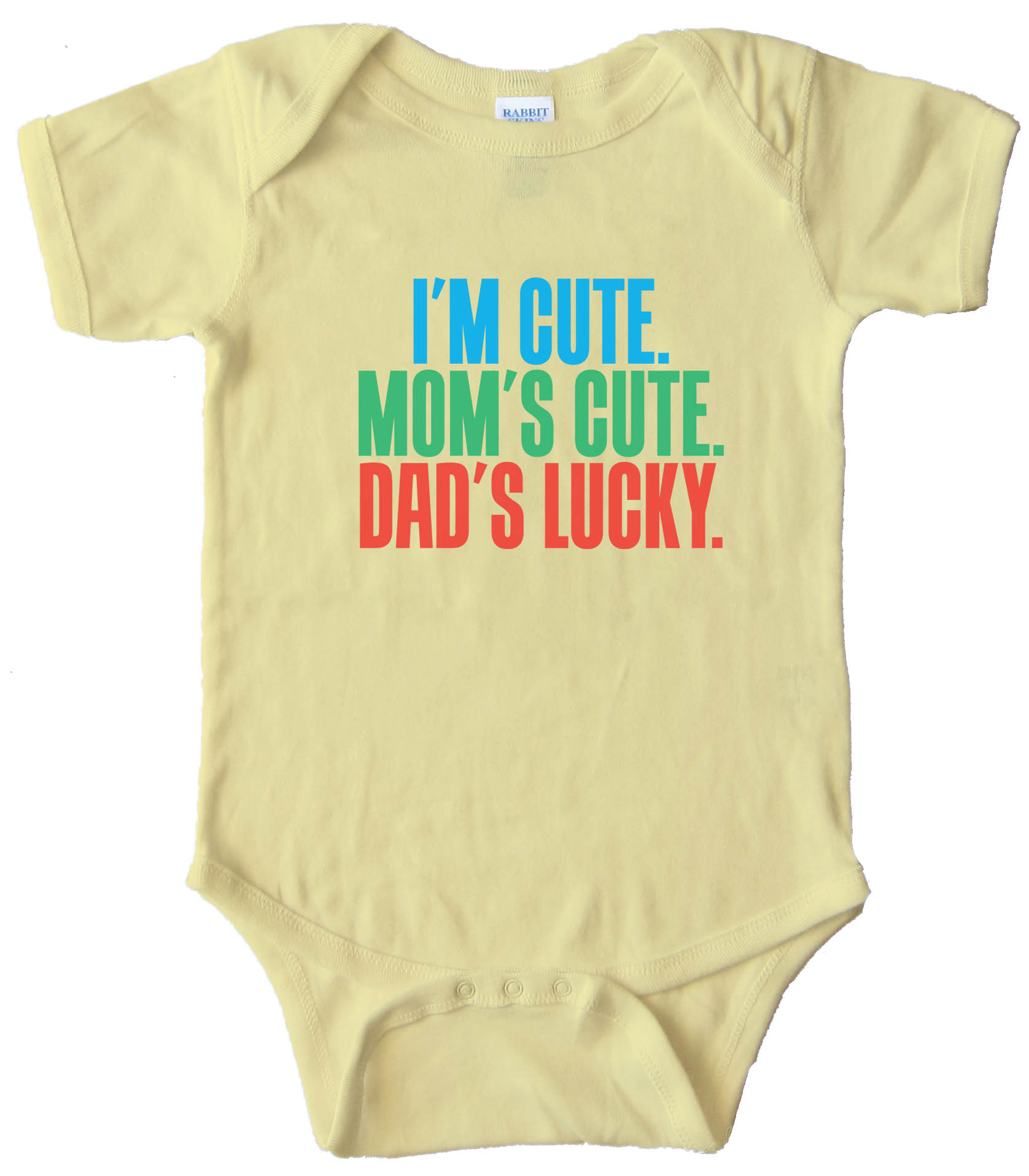 I'M Cute - Mom'S Cute - Dad'S Lucky - Baby Bodysuit