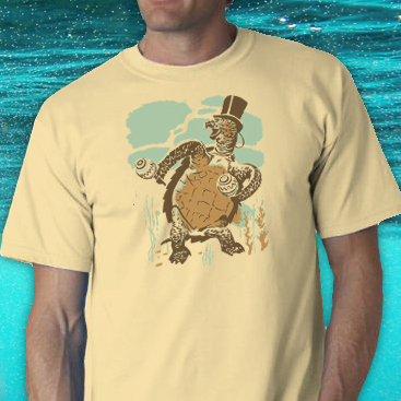 Sophisticated Tortoise Tee Shirt